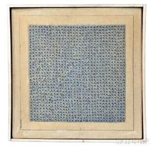 Sold for: $1,539,000 - Agnes Martin (Canadian/American, 1912-2004)      Blue Flower