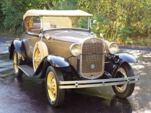 Sold for: $17,625 - *1931 Ford Deluxe Roadster, Vin # A2986171