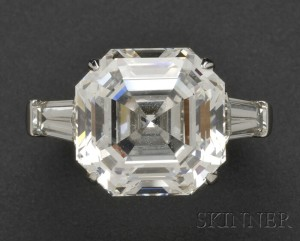 Sold for: $567,000 - Platinum and Diamond Solitaire