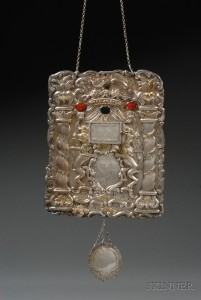 Sold for: $29,625 - Silver, Silver-gilt, and Stone-inset Torah Breast Plate