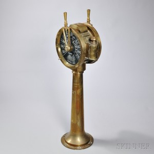 Lighted Brass Ship's Engine Order Telegraph