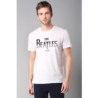 Ben Sherman Print Shirts - bemb12743 the beatles gingham logo - Weiß / Naturfarben