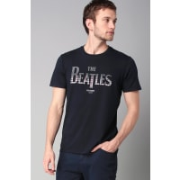 Ben Sherman Print Shirts - bemb12743 the beatles gingham logo - Blau / Marine