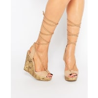 Call It Spring Call It Spring Treawen Ghillie Lace Up Wedge Sandals