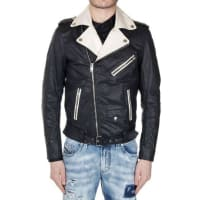 Diesel Fabric J-SEDBI Jacket with Leather Insert Frühling/Sommer
