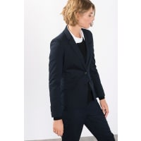 Esprit ESPRIT COLLECTION Gestreifte Anzugblazer, blau, NAVY