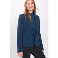Esprit ESPRIT COLLECTION Strick-Blazer mit Reliefstruktur, blau, PETROL BLUE
