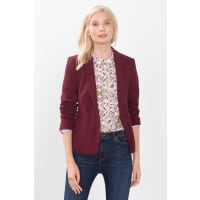 Esprit ESPRIT COLLECTION Strick-Blazer mit Reliefstruktur, rot, BORDEAUX RED