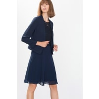 Esprit ESPRIT COLLECTION Teilgefütterter Blazer mit Layer-Effekt, blau, NAVY
