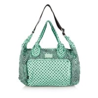 Marc Jacobs Printed Embroidered Satin-twill Tote - Light green
