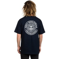 Obey Obey Worldwide Seal Basic T-Shirt navy / blauw
