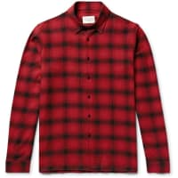 Sandro Checked Cotton-flannel Shirt - Red