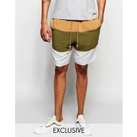 The New County Gestreifte Shorts - Braun