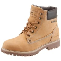 Tom Tailor Schnürboots im Worker-Look beige