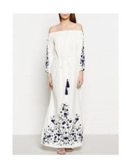 Pampelone Clothing Voiles Maxi Dress - White, Size S