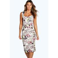 Boohoo Floral Midi Dress multi