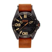 Boss Orange by Hugo Boss Uhr mit Armband aus Veloursleder