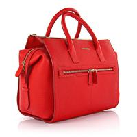 Dsquared2 Handtasche Twin Zip Leder rot