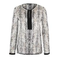 Esprit Bluse in Allover Reptil-Optik