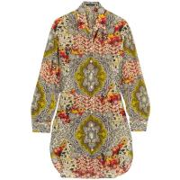 Etro Printed Cotton And Silk-blend Shirt - Yellow
