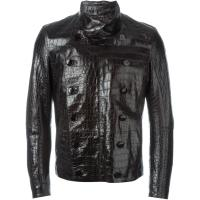 Giorgio Armani alligator leather buttoned jacket