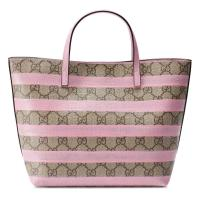 Gucci Kinder Shopper aus gestreiftem GG Canvas