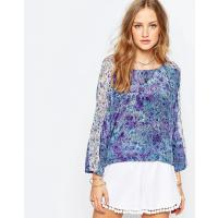 Gypsy 05 Gypsy - 05 CDC Dolman - Top in seta stampata - Blu