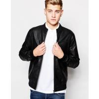 Jack & Jones Bikerjacke in Lederoptik - Schwarz
