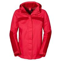 Jack Wolfskin Outdoorjacke »TOPAZ II JACKET WOMEN«, rot, hibiscus red