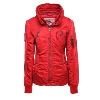 Khujo Jacke QUEST FABRIC CONTRAST rot