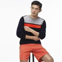 Lacoste Made in France Rundhalspullover aus Jersey im Colorblock-Design