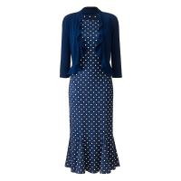 Marisota Spot Print Dress & Shrug L39