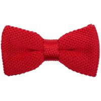 Neckwear Knitted Silk Bow Tie - Red