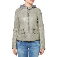 Oakwood Sunday New Lederjacke Hellgrau