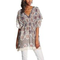 Only Damen Bluse Onleline Marrakesh Beach Tunic ACC, Mini, Geblümt