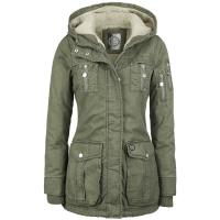 R.E.D. by EMP Short Parka Girl-Jacke oliv