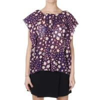 Saint Laurent Blusa in Seta con Stampa Stelle Primavera-Estate