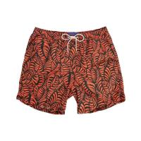 Scotch & Soda Orangefarbene Badehose Flowers Print