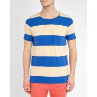 Scotch & Soda T-Shirt Color Block Blau