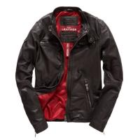 Superdry Real Hero Biker Lederjacke