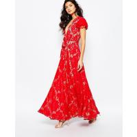 The Jetset Diaries Piazza - Rotes Maxikleid - Ruby