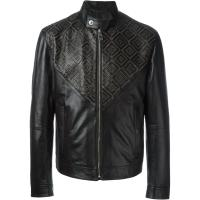 Versace Leather jacket with studs