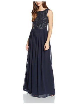 Adrianna Papell Damen Kleid Slvlss Bead Bodice Ggt Gown