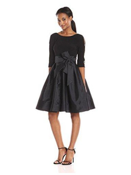 Adrianna Papell Damen Kleid Taffeta Two-fr Fit And Flr