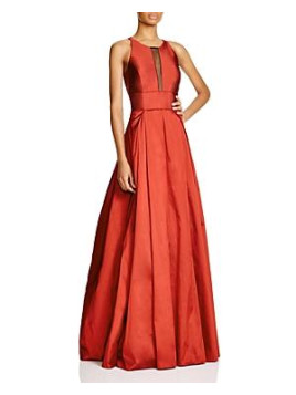 Aidan Mattox Sleeveless Illusion Neck Gown - 100% Bloomingdales Exclusive