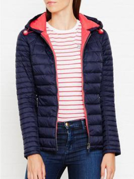Barbour Landry Baffle Quilt Jacket - Navy, Size 12