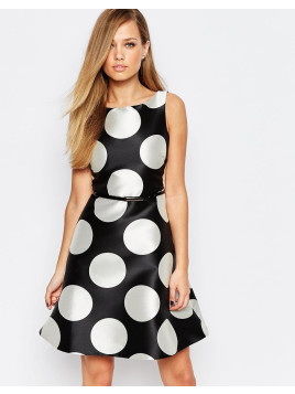 Coast Ellie Mae A-Line Shift Dress in Spot Print - Spot print