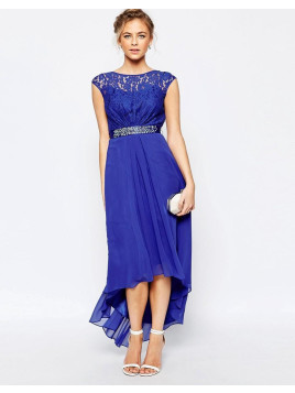 Coast Lori Lee Maxi Dress in Cobalt Blue - Cobalt blue