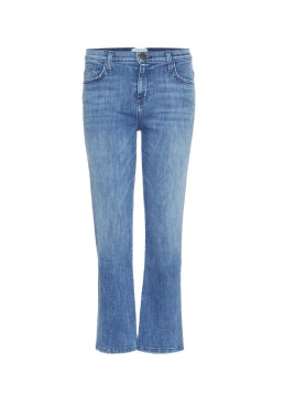 Current Elliott The Kick Mid-Rise Flared Jeans in Cropped-Länge