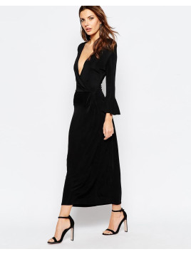 French Connection Maxi Dress in Wonder Jersey - Black